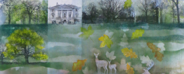 landscape painting of Richmond and Kew Gardens
